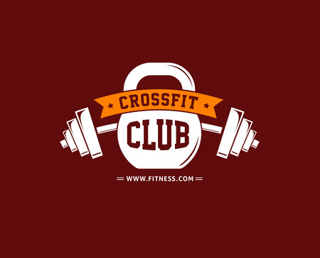Fitness, crossfit, gym emblems, label, badge, vector logo and element