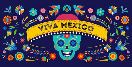 Day Of The Dead Dia De Los Muertos Background Banner And Greeting Card Concept
