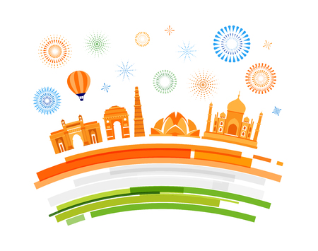 Indian Republic Day concept design, banner, poster and emblem.