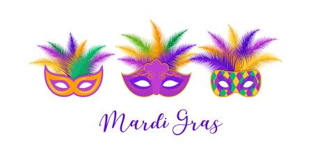Mardi Gras - Fat Tuesday Carnival celebration template