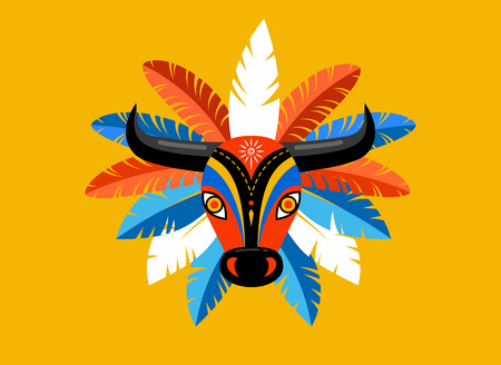 Carnaval de Barranquilla, kolumbianische Karnevalsparty. Vektorillustration, Poster und Flyer