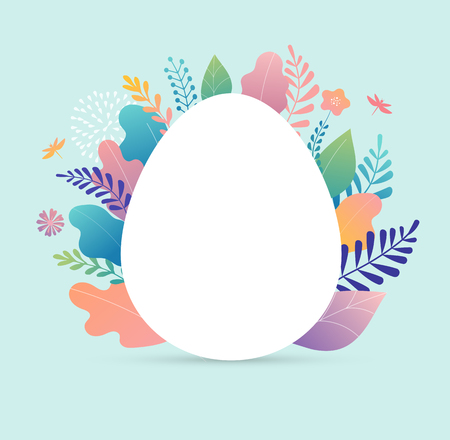 Happy Easter vector illustration, greeting card, poster template Vectores