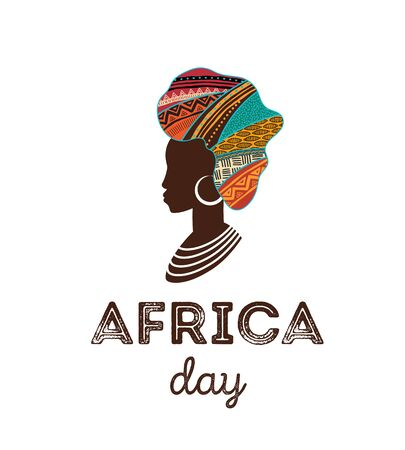 Happy Africa Day. Vector poster, banner, card 向量圖像