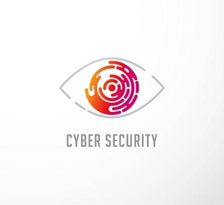 Technology concept, eye icon 일러스트