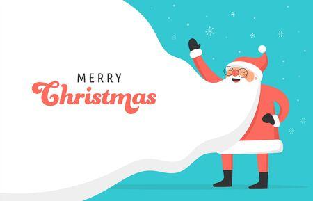Santa Claus concept design for billboard, banner. Vector illustration