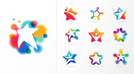 Star, fitness, sport, excellence, learning and design icons and logos. Vector design Illustration