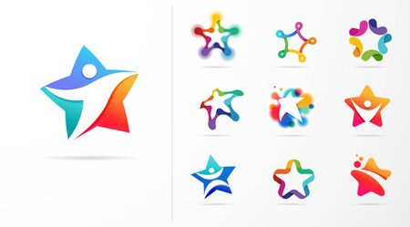 Star, fitness, sport, excellence, learning and design icons . Vector design