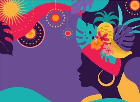 Brazilian Carnival, music festival, masquerade flyer and poster template