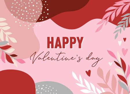 Valentines day abstract backgrounds with copy space for text - banners, posters, cover design templates, social media stories wallpapers Archivio Fotografico - 138198916