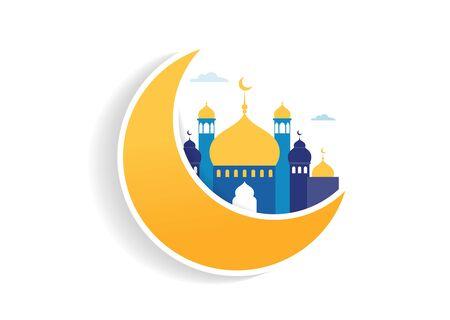Ramadan Kareem, Happy Ramadan, greeting card and banner. Eid mubarak, Islamic holiday background. Vector concept illustration