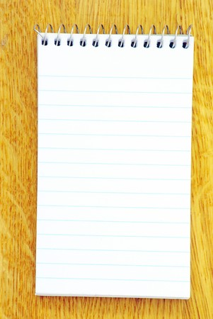 Open pages notebook on brown Stock Photo - 8009918