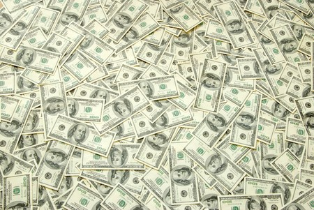 Background with money american hundred dollar bills photo