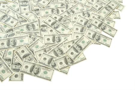 letra de cambio: pila de dinero aislado sobre fondo blanco