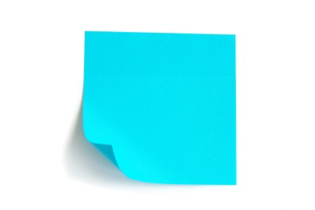 note paper isolated on the white background photo