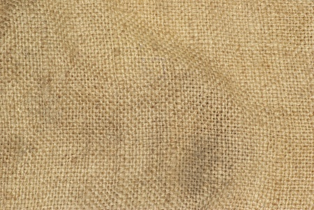 texture old sack fabric as background