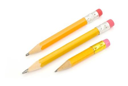 crayon: crayon isol� sur fond blanc