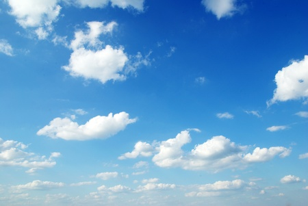 blue sky background: White clouds in blue sky Stock Photo