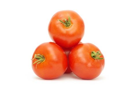 tomato isolated over white background photo