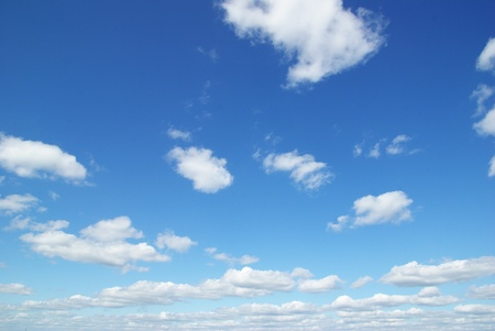 clouds in the blue sky photo