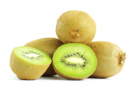 Fresh piece kiwi fruit isolated on white background photo