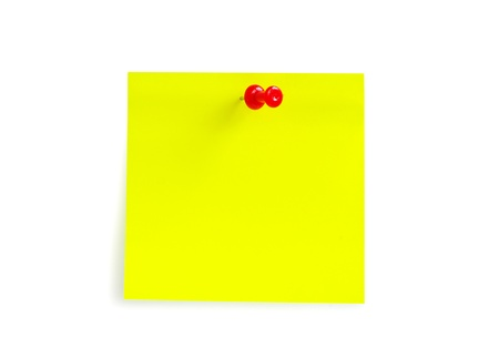 postit: note paper isolated on the white background