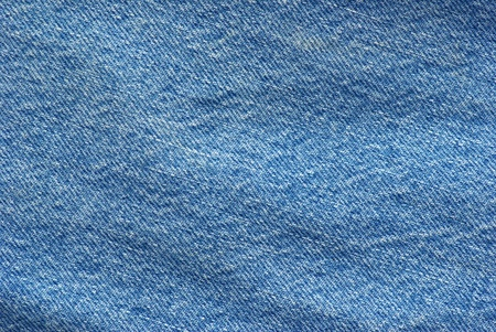Textured striped blue jeans denim linen fabric background photo