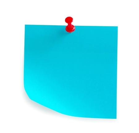 Hinweis Papier auf dem weißen Hintergrund isoliert Standard-Bild - 11512608
