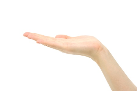 hand  on a white background Stock Photo - 11512709