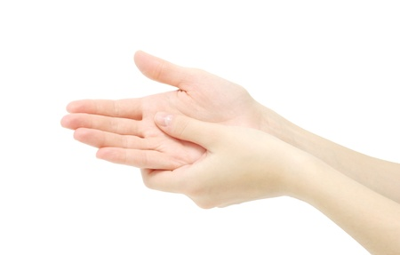 hand  on a white background Stock Photo - 11512613