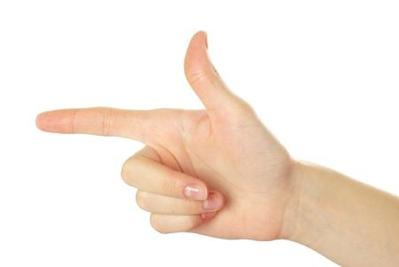 comunicacion no verbal: mano aisladas sobre un fondo blanco