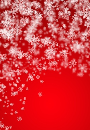 Festive Christmas  background with snowflakes photo
