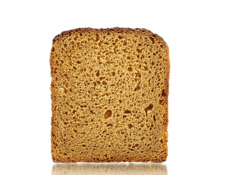 bread slice: bread isolated on a white
