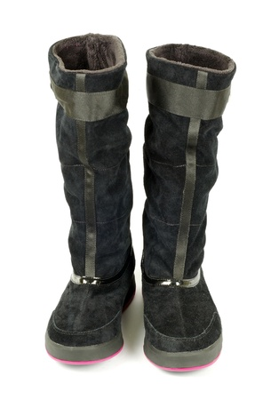 female winter boots on white background Stock Photo - 11941947