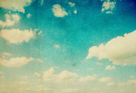 grunge image of blue sky with clouds 写真素材