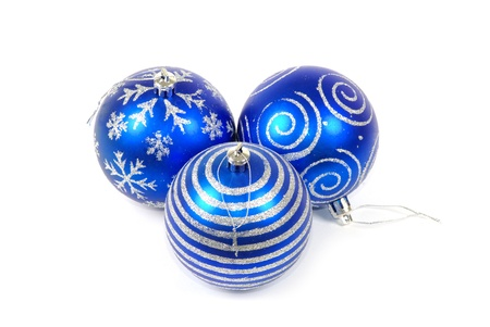 christmas balls isolated on white background photo