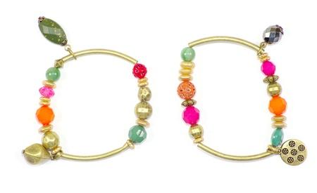 bracelet with precious stones isolated on white photo