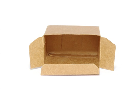 cardboard box isolated on white photo