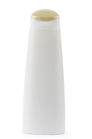 Shampoo bottle on the white backgrounds photo