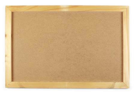 noteboard: notice board on a white Stock Photo