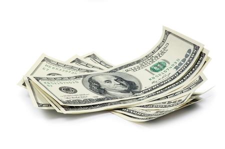 お金、白で隔離されます。