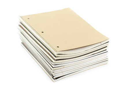 notebooks on a woods background photo