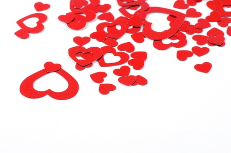 Valentines Hearts isolated on white