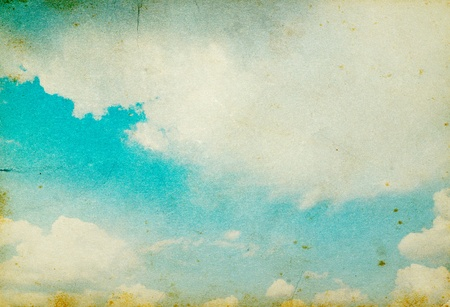 grunge image of blue sky with clouds Stock Photo - 12994426