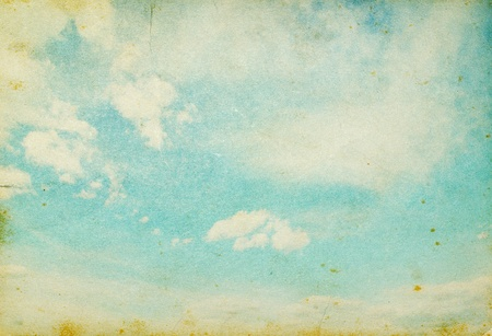 grunge image of blue sky with clouds Stock Photo