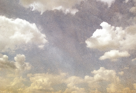 grunge image of blue sky with clouds photo