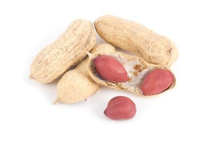 goober: Peanuts on awhite baground