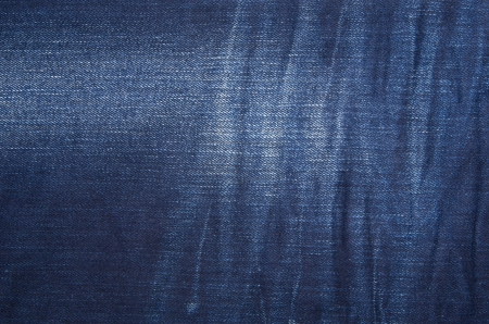 Textured striped  jeans denim linen fabric background photo