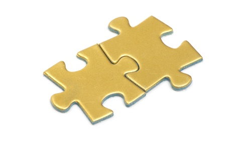puzzle pieces on white background photo