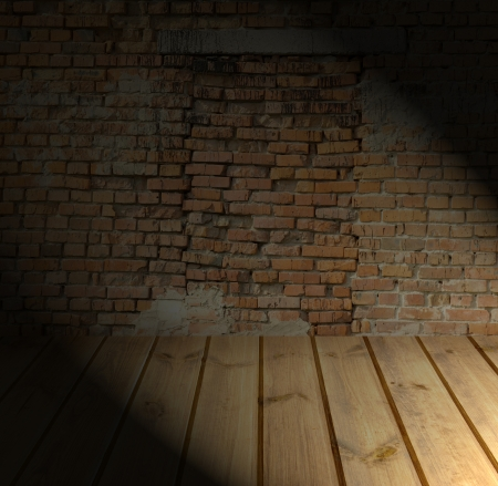 Brick Wall And Wood Floor Texture Interior Stock Photo Picture And