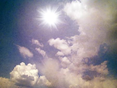 grunge image: Grunge image of blue sky
